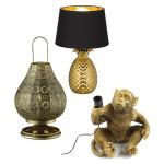 Gouden tafellampen