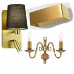 Gouden wandlampen