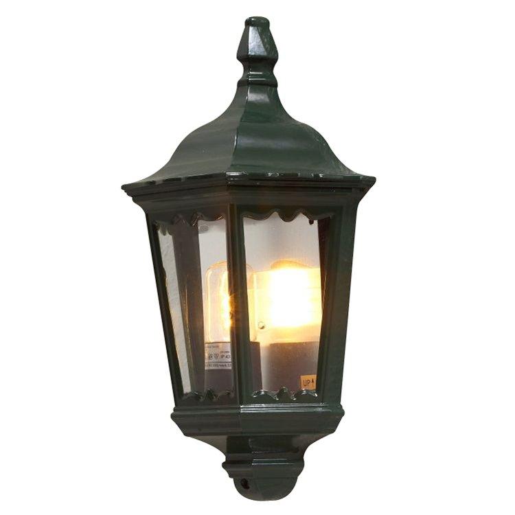Buitenwandlamp FIRENZE in lantaarnvorm, groen