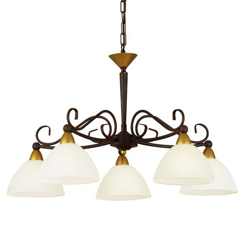 Stijlvolle hanglamp Midec 5 lichts rond