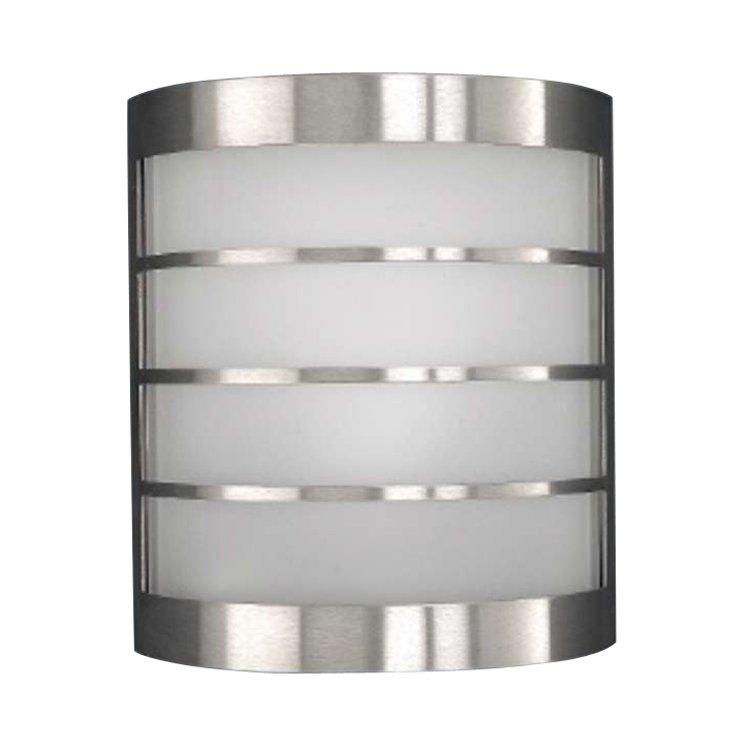 Massive calgary buitenlamp 11 w e14 rvs, met wit glas