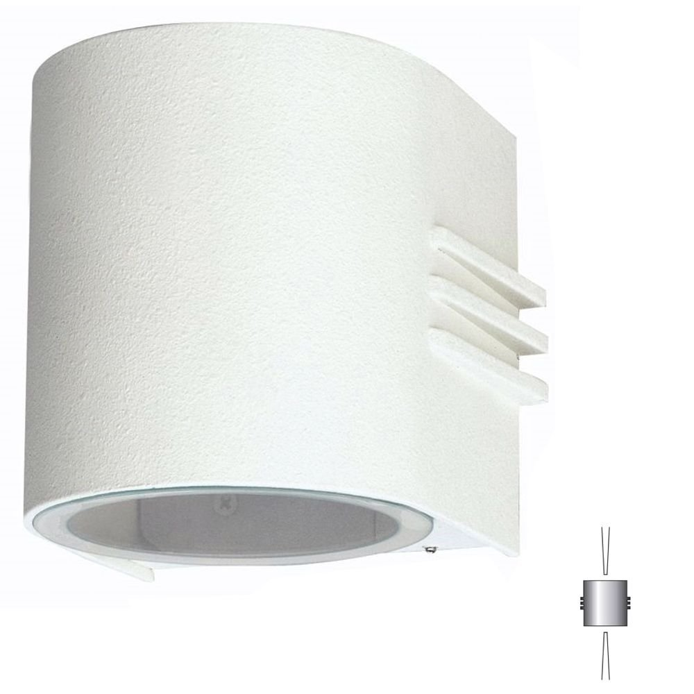 Albert Wandlamp Facade met 2 powerleds up en down Albert-Leuchten 682306