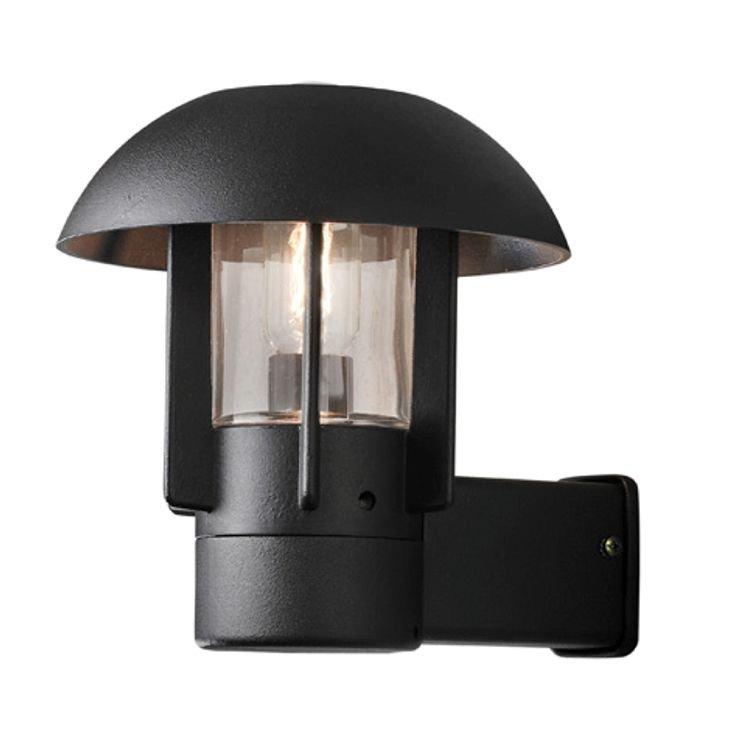 Aluminium buitenwandlamp HEIMDAL, zwart