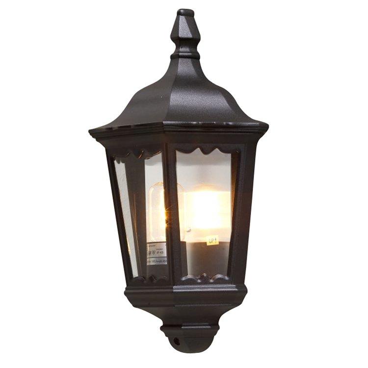 Buitenwandlamp FIRENZE in lantaarnvorm, zwart