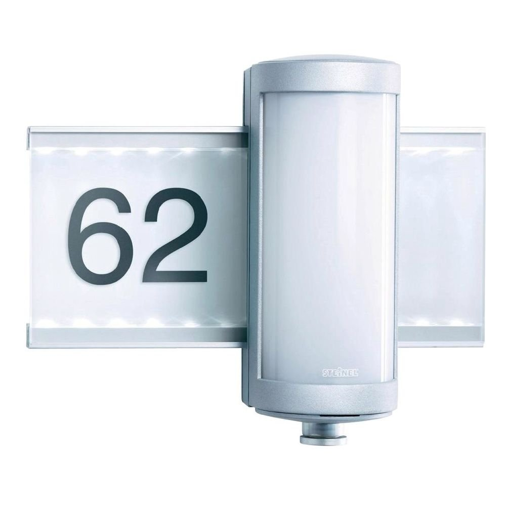 led sensorlamp l625 met huisnummer van steinel kopen. Black Bedroom Furniture Sets. Home Design Ideas