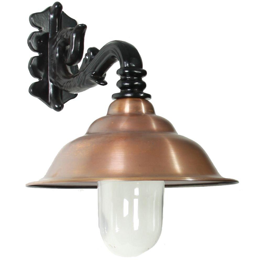KS Verlichting Nostalgische wandlamp Chateau met koperen kap KS 1256