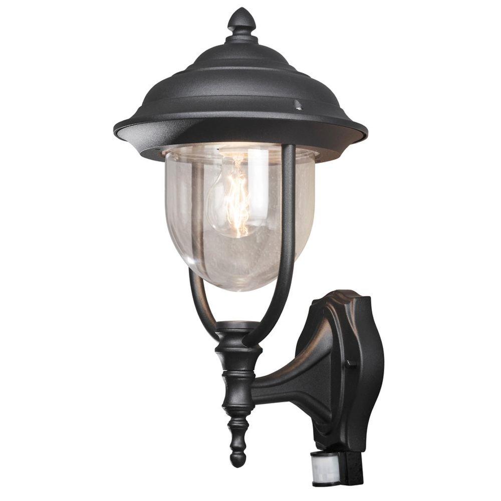 Buitenwandlamp PARMA met bewegingsmelder, zwart