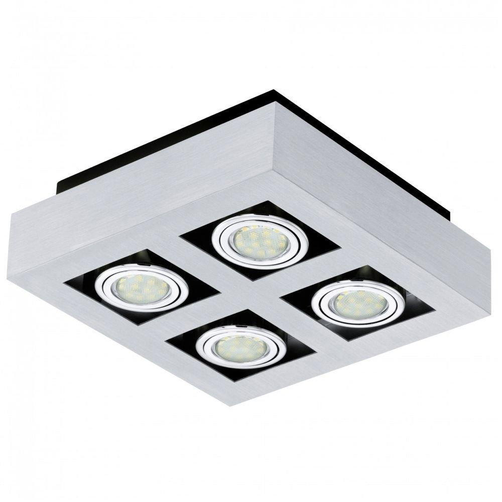 plafond spots loke 1 led van eglo kopen lampentotaal. Black Bedroom Furniture Sets. Home Design Ideas