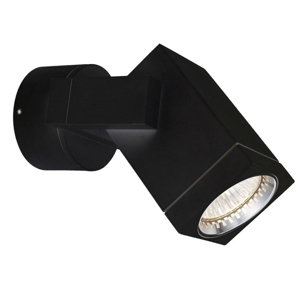 LED Muurspot Cubic Zwart