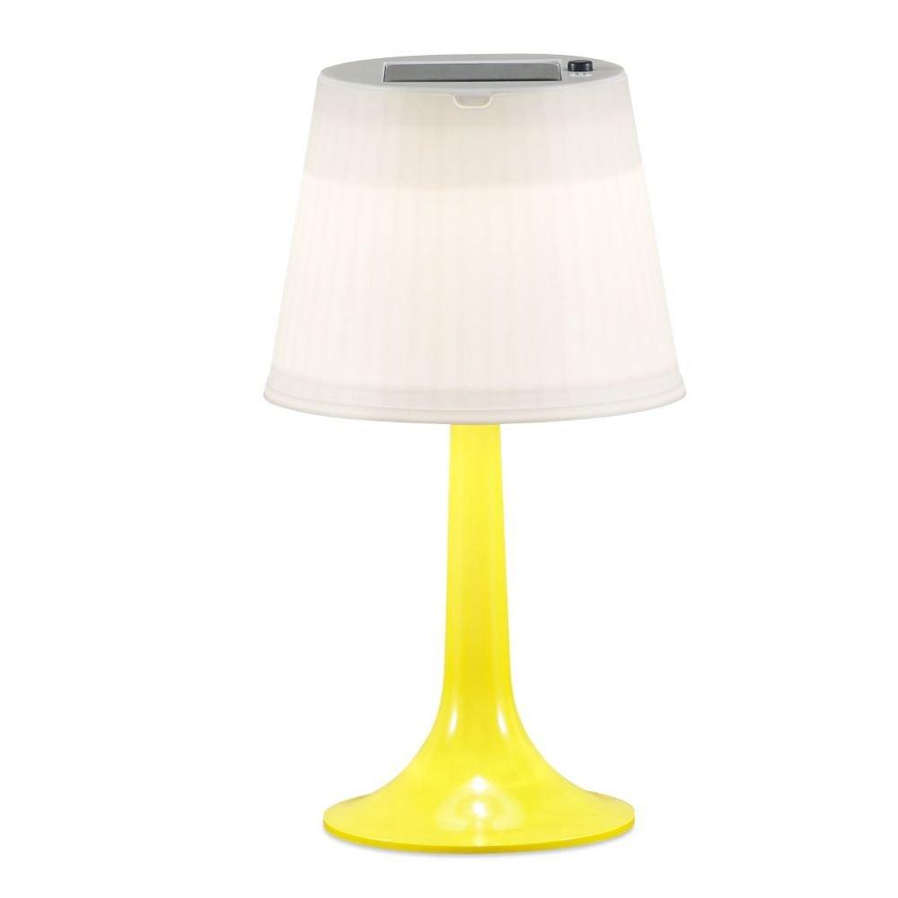 Solar tafellamp met LED verlichting Geel