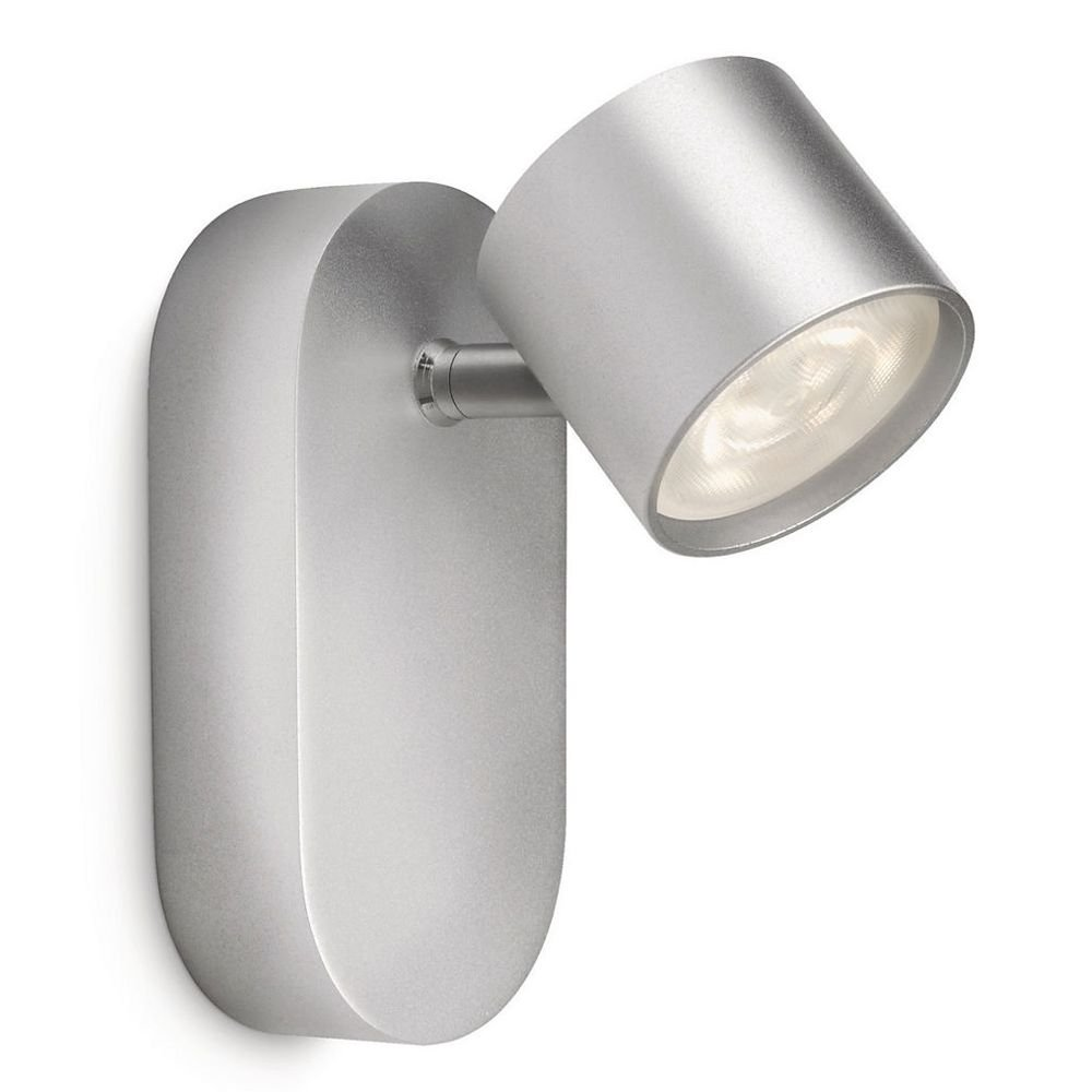 Philips myliving star wandspot safety extra low 4 w grijs