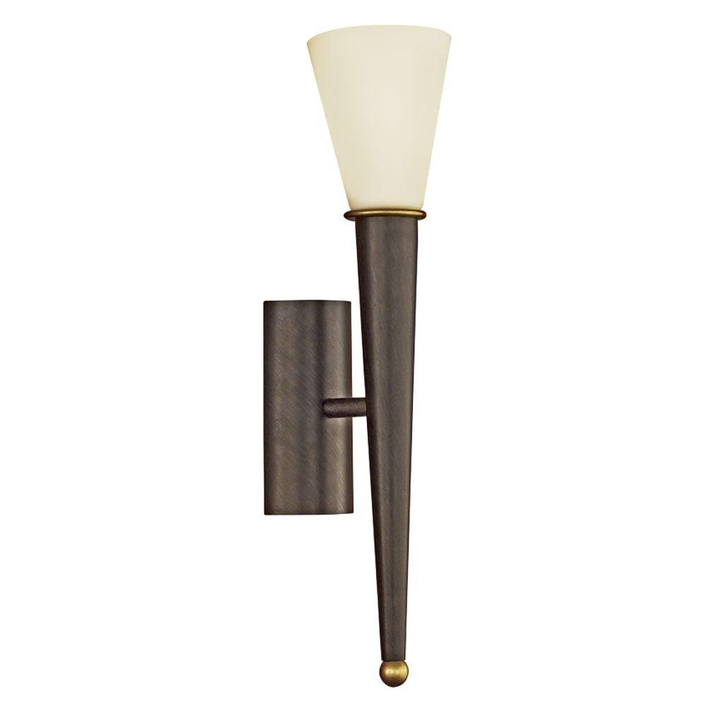 Fraaie wandlamp Merna 1 licht antiekbruin