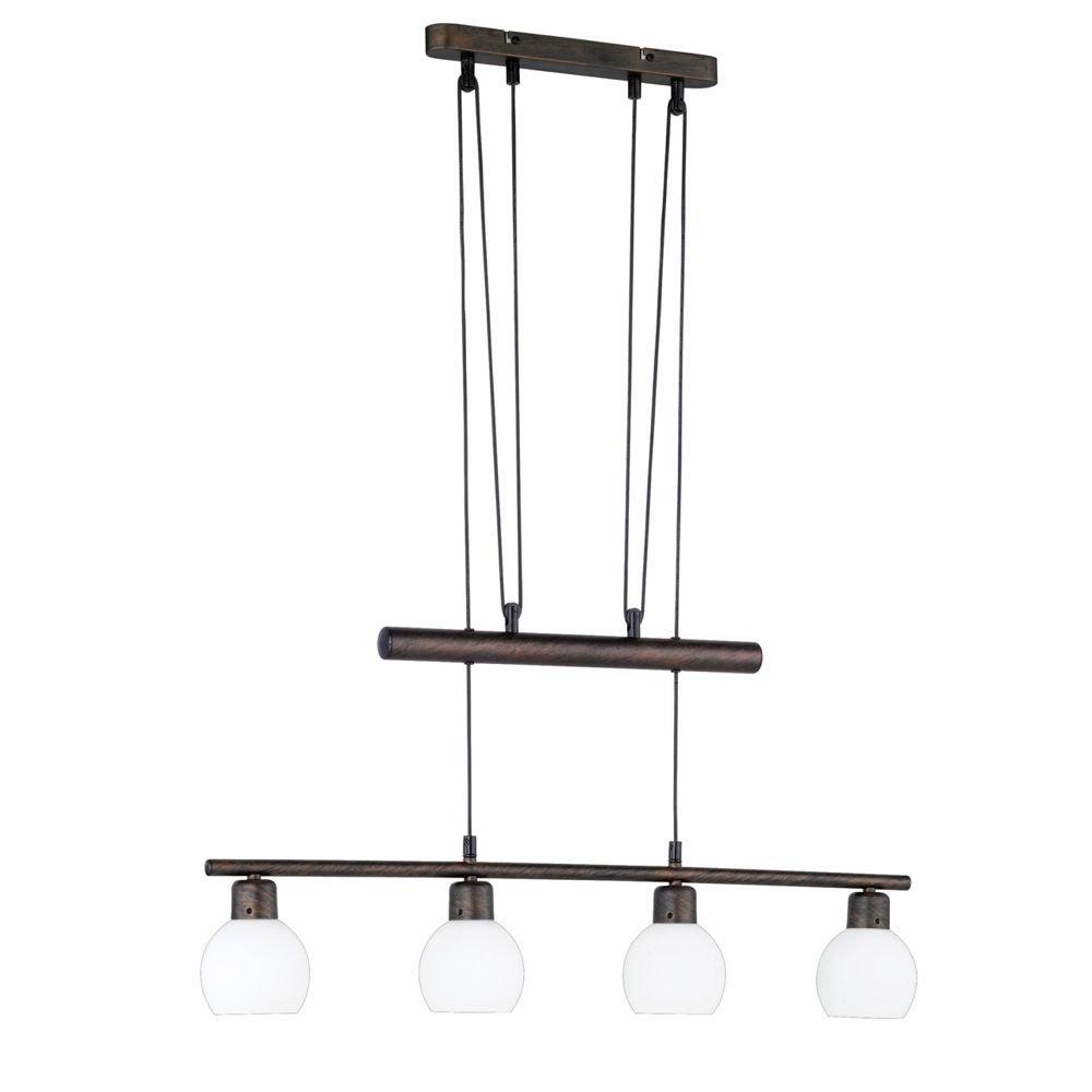 energie A++, LED- JoJo-hanglamp antiek roestkleurig 4x4W, Lux