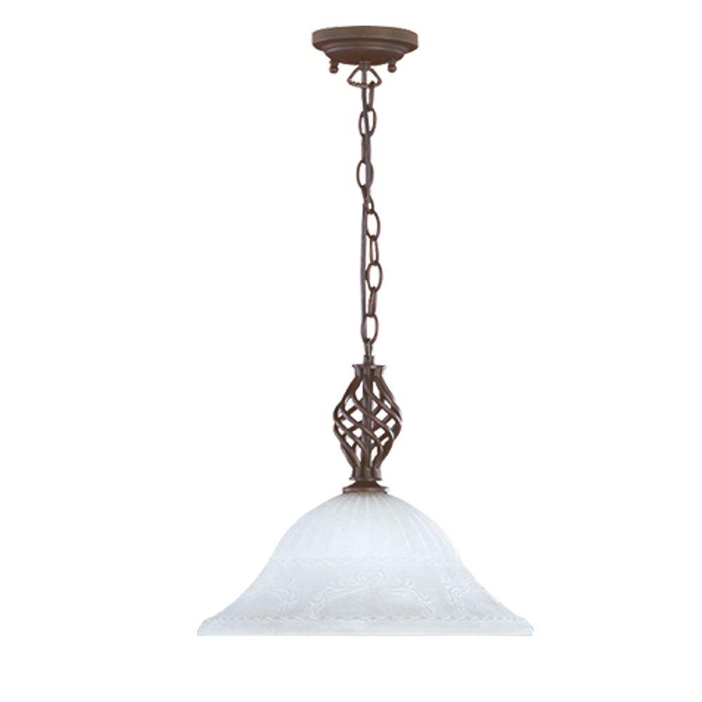 Hanglamp Elegant 1 roestkleur