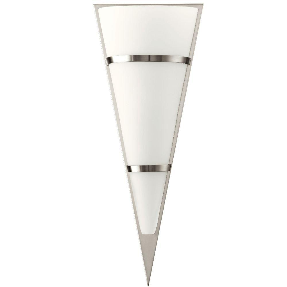 Voortreffelijke wandlamp Pascal 48 nikkel satijn