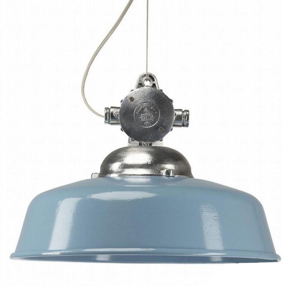 KS Verlichting Hanglamp Detroit Industry retro blauw KS 6587
