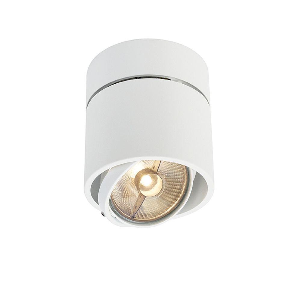 KARDAMOD SURFACE rond ES111 SINGLE, plafondlamp, wit, GU10, max. 75W
