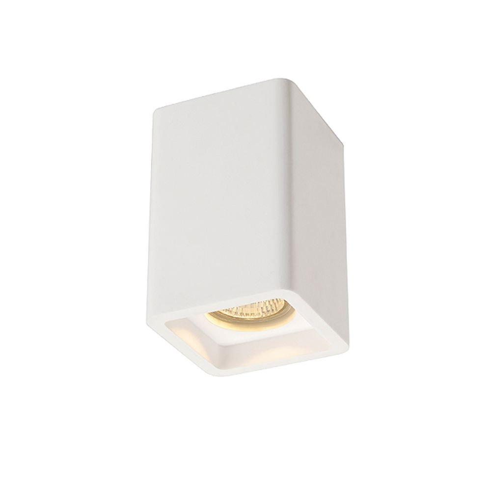 Plafondlamp Halogeen, Spaarlamp GU10 35 W SLV Plastra 148004 Wit
