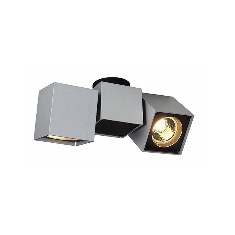 energie A+, Plafondlamp Altra Dice II zilvergrijs, zwart, Lux