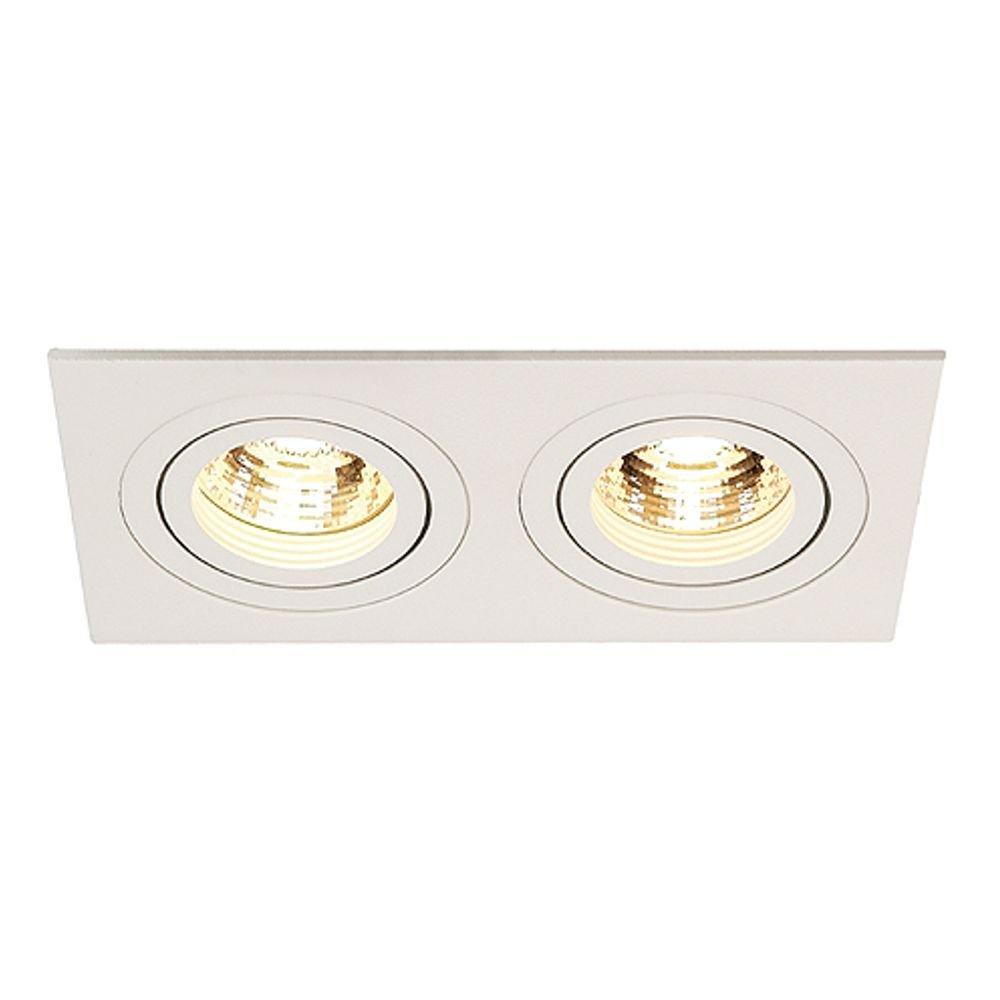 SLV Plafondinbouwlamp New Tria II Wit 113512