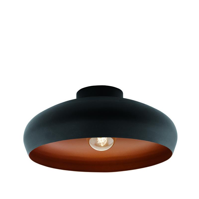 Plafondlamp Mogano zwart-koper