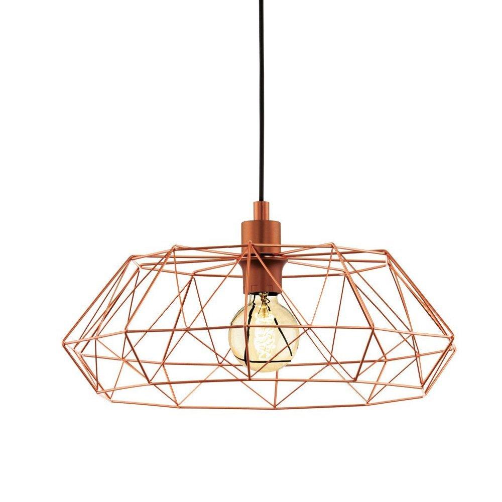 EGLO hanglamp Carlton 2 koperkleur