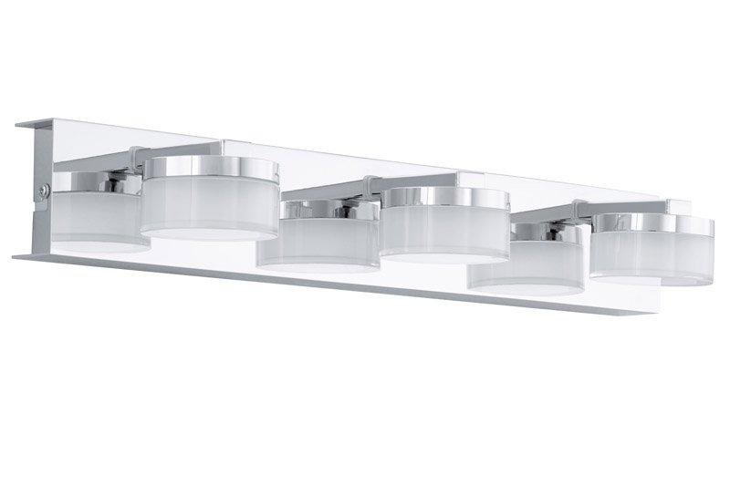 LED wandlamp -3 chroom-gesatineerd helder ROMENDO