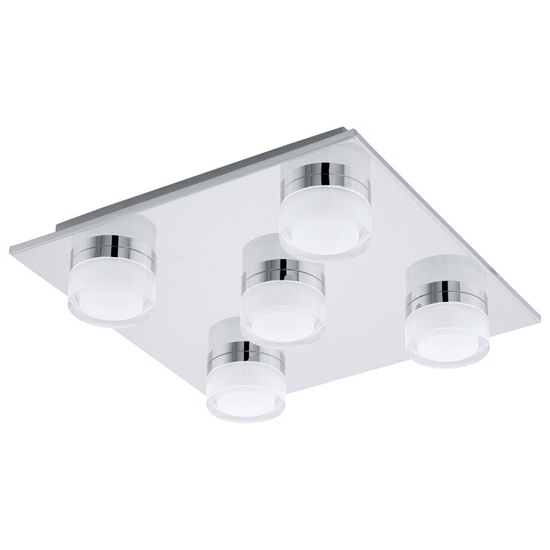 LED wandlamp-5 chroom-gesatineerd helder ROMENDO