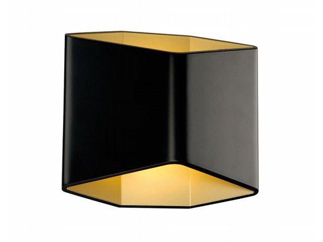 LED-wandlamp 7.6 W Warmwit SLV 151710 Zwart