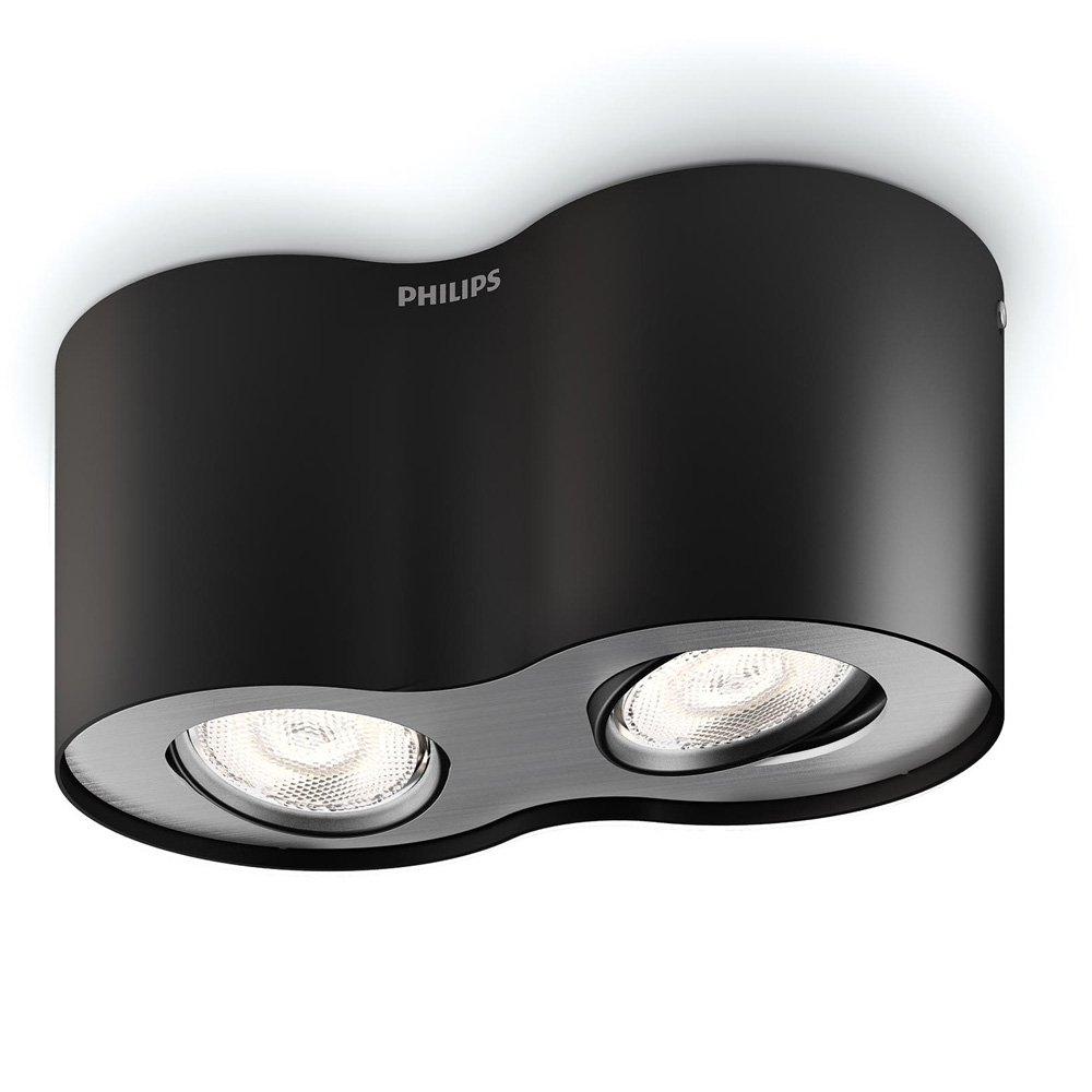 Phase LED-spot in zwart, 2-lamps