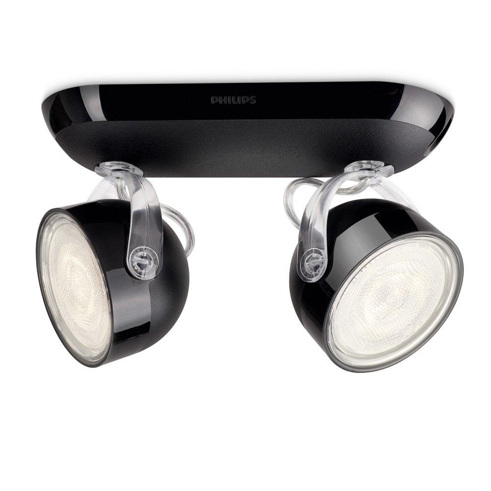 energie A+, LED-spotbalken myLiving Dyna II zwart 2 lichtbronnen, Philips