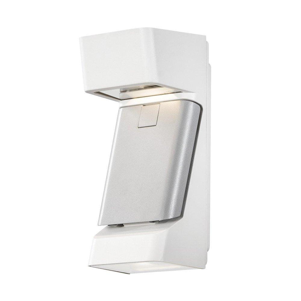 Wandlamp Konstsmide Ravenna 7976-250 mat wit-grijs 230V triplelight 29.5cm, 3x 4W