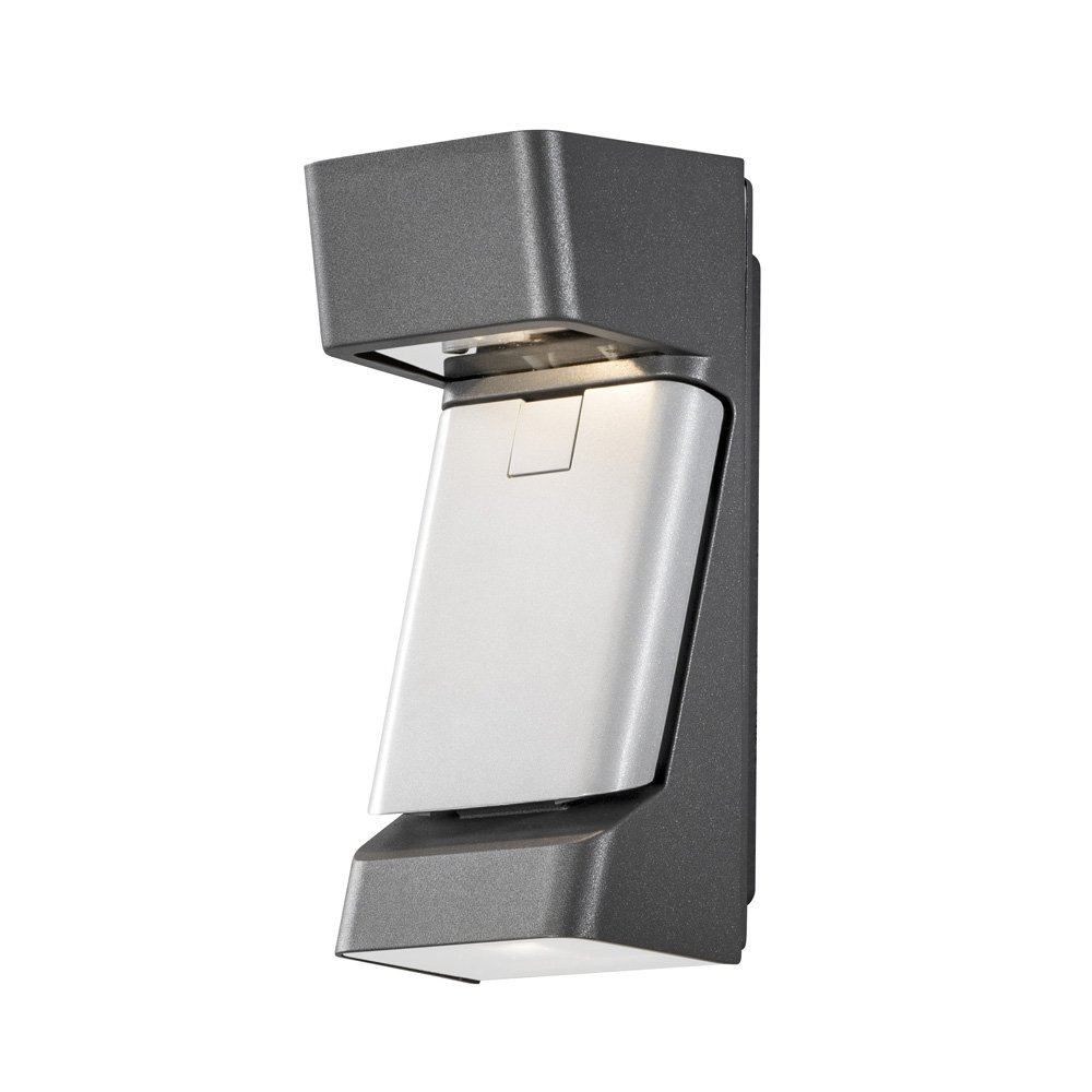 Wandlamp Konstsmide Ravenna 7976-370 antraciet-grijs 230V flush triplelight 29.5cm, 3x 4W