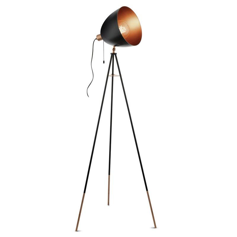 Eglo Chester Vloerlamp Zwart-Koper 135 cm