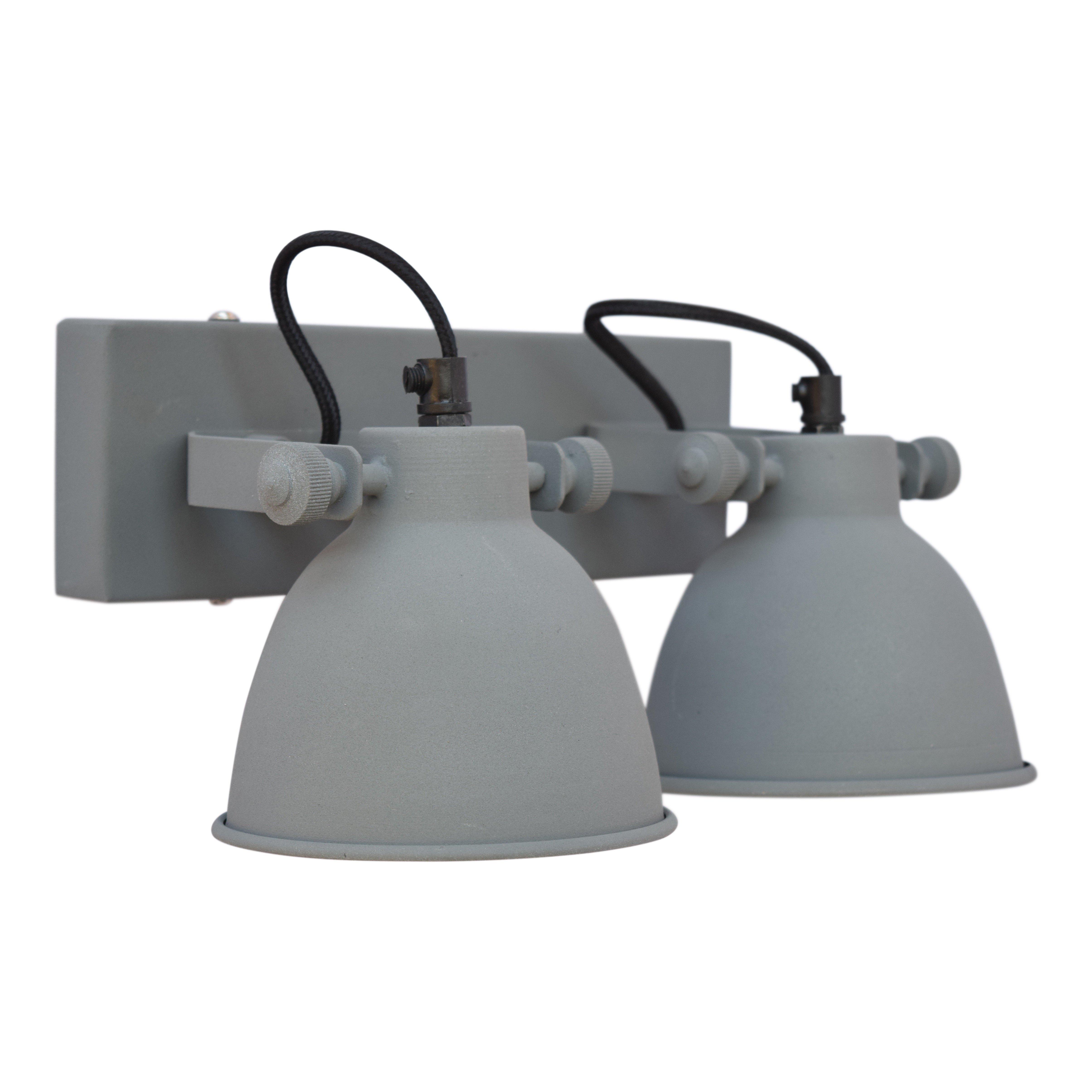 Urban Interiors Wandlamp Double Vintage grijs Ur. AI-WL-DBL-21-VG