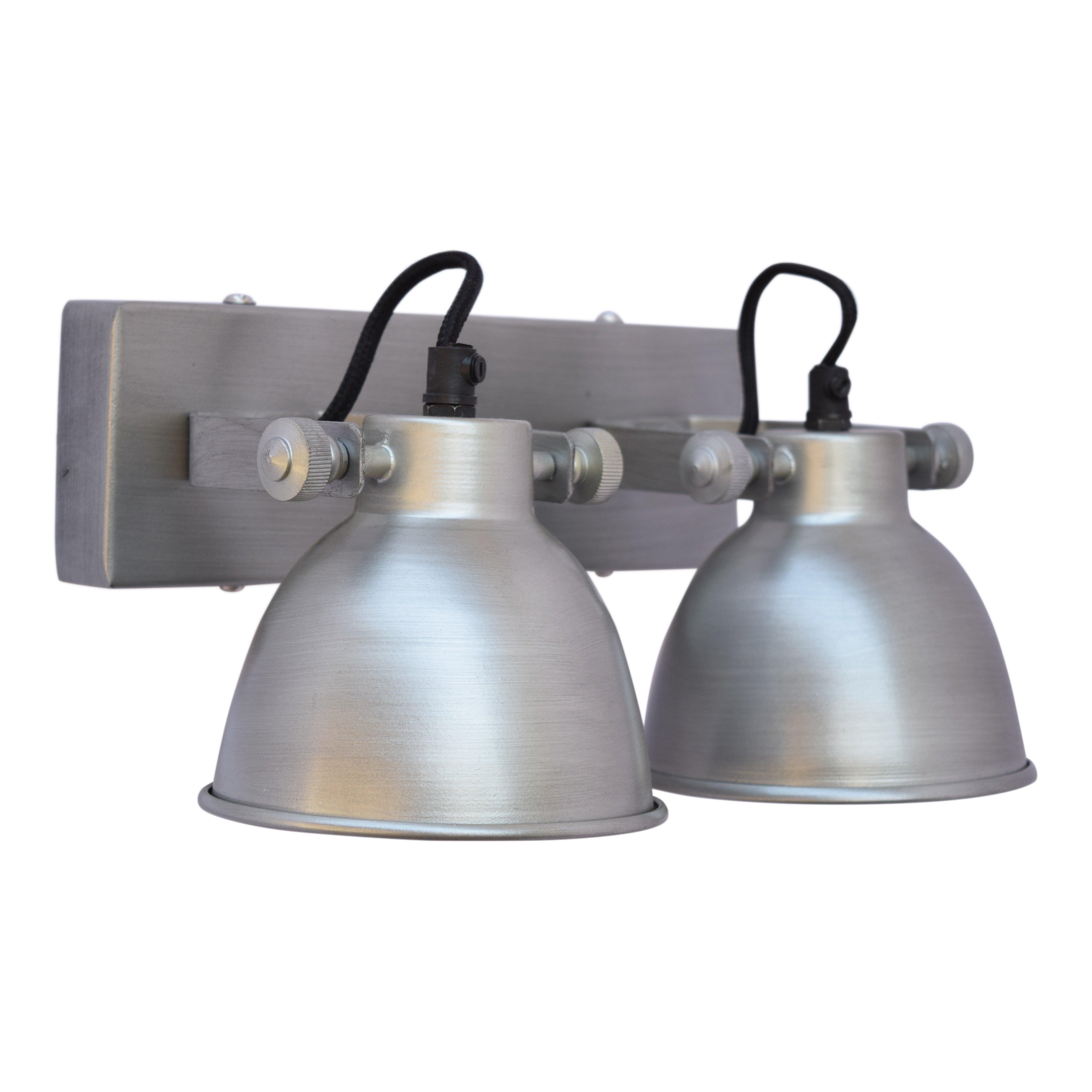 Urban Interiors Wandlamp Double Antique zink Ur. AI-WL-DBL-21-AZ
