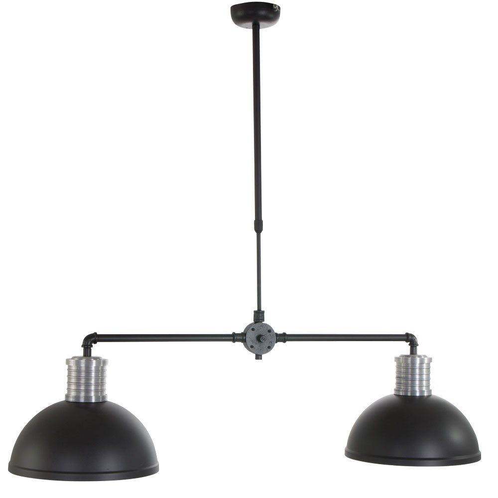 Hanglamp Industrieel Minsk Duo Zwart