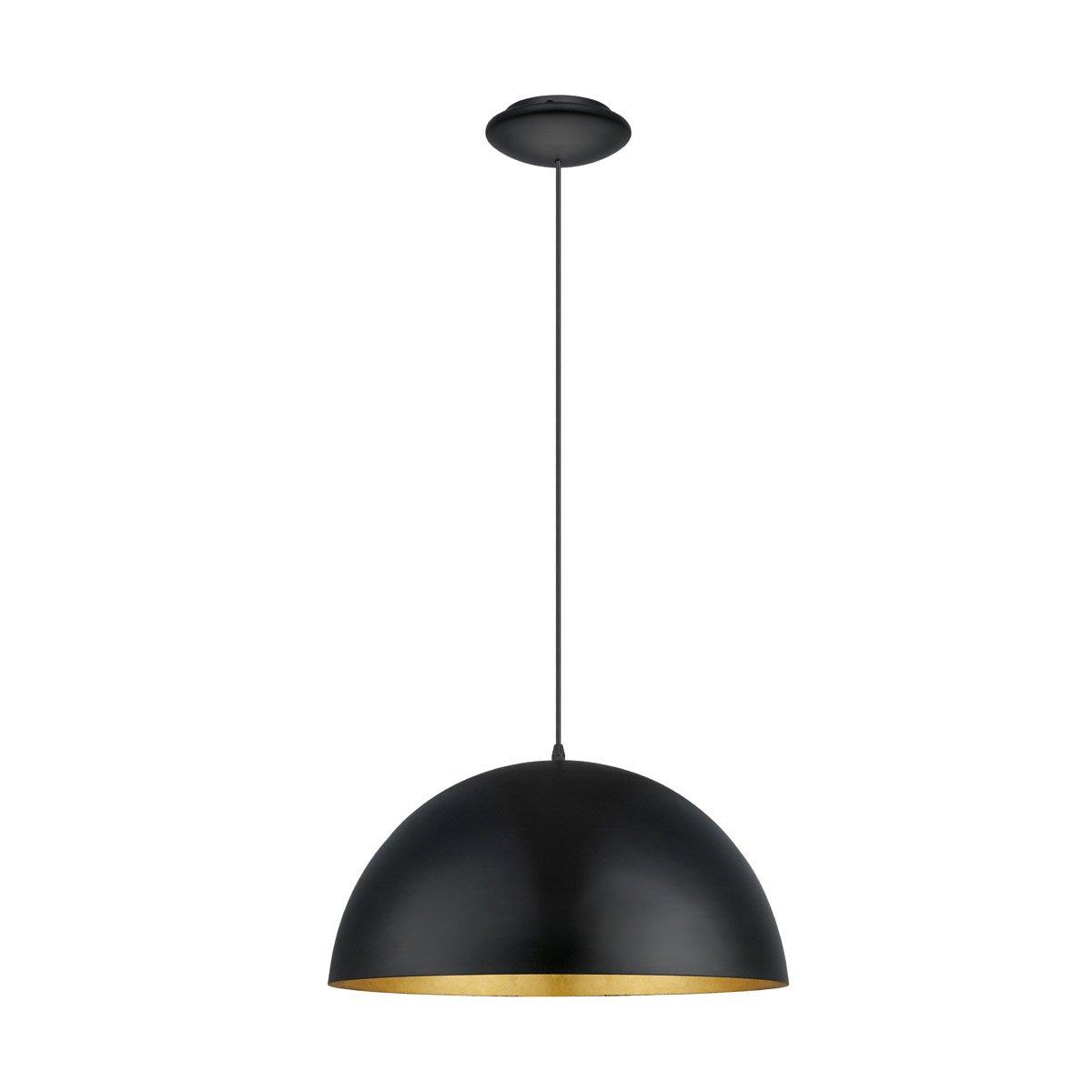 Eglo Hanglamp Gaetano 1 zwart - goud Eglo 94936