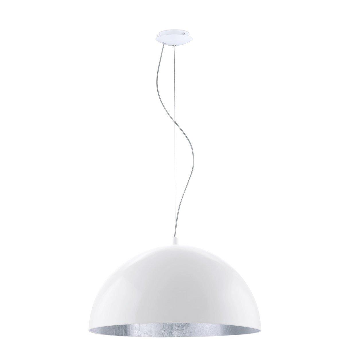 Eglo Hanglamp Gaetano 1 wit - zilver Eglo 94941