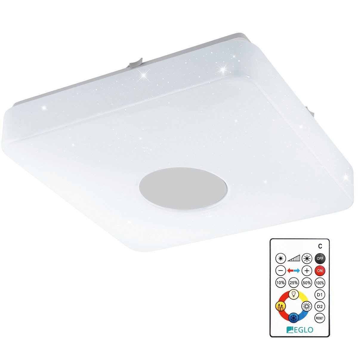 Eglo Plafonniere Voltago 2 RGB Crystal Eglo 95975