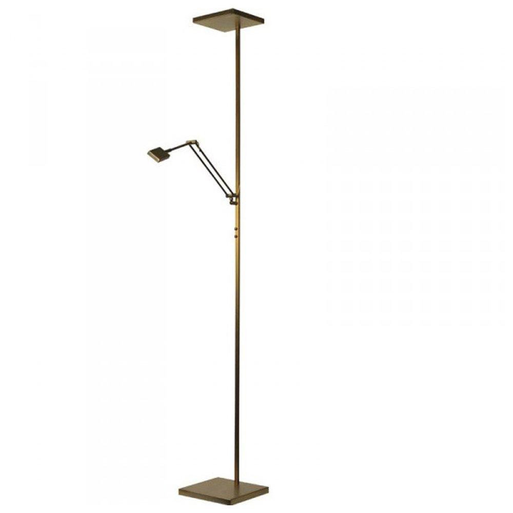 Masterlight Vloerlamp uplight Denia 1 met leeslamp Masterlight 1881-01