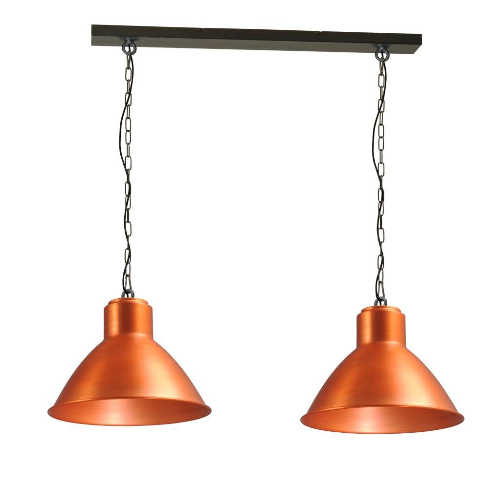 Masterlight Roodkoperen eettafellamp Industria 2x44 Masterlight 2011-55-H-130-2