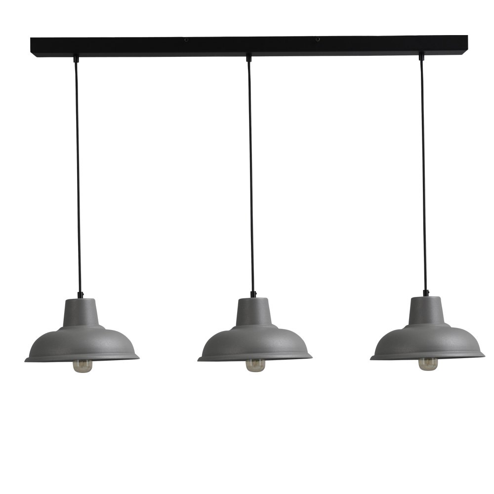 Masterlight Retro eettafellamp Di panna Industria 3x26 Masterlight 2045-00-100-3