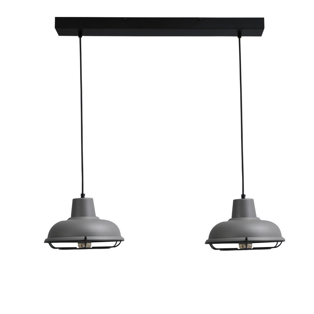 Masterlight Retro eettafellamp Industria 2x26 Masterlight 2045-00-C-70-2