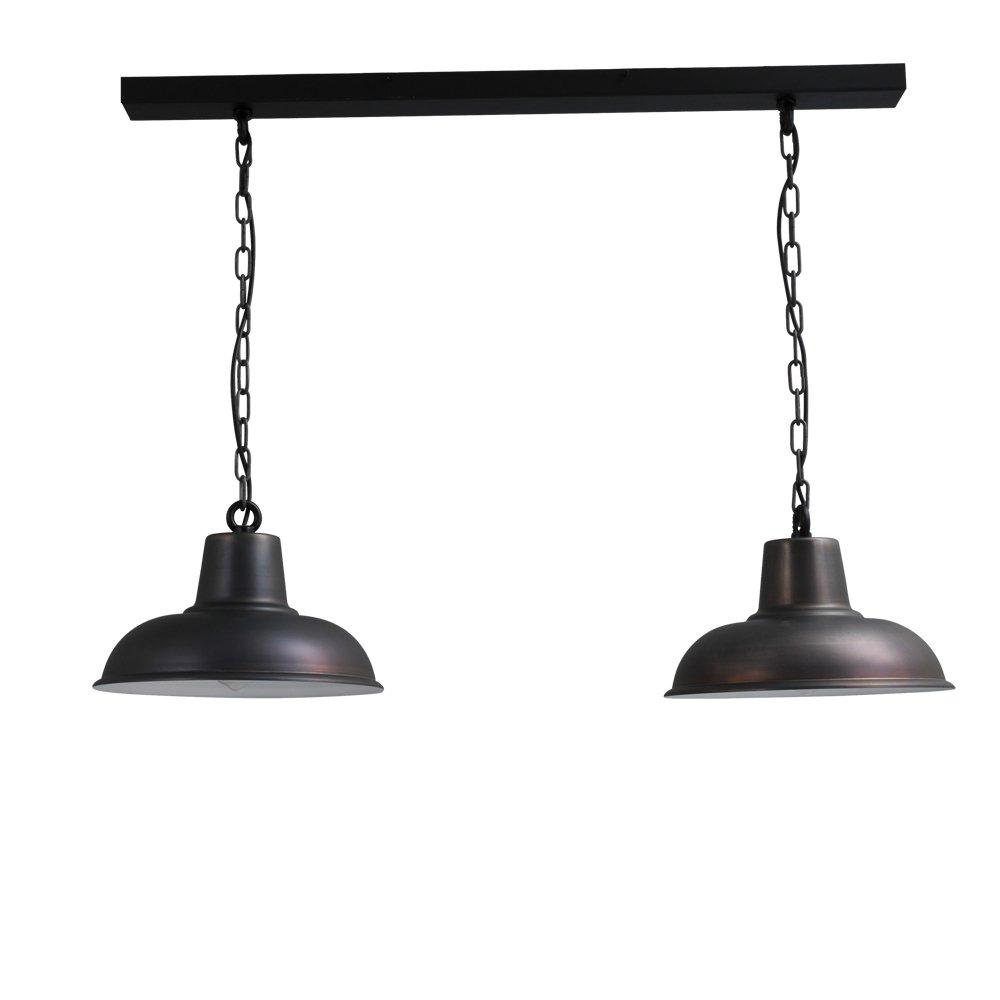 Masterlight Stoere eettafellamp Industria 2x36 Masterlight 2046-30-K-100-2