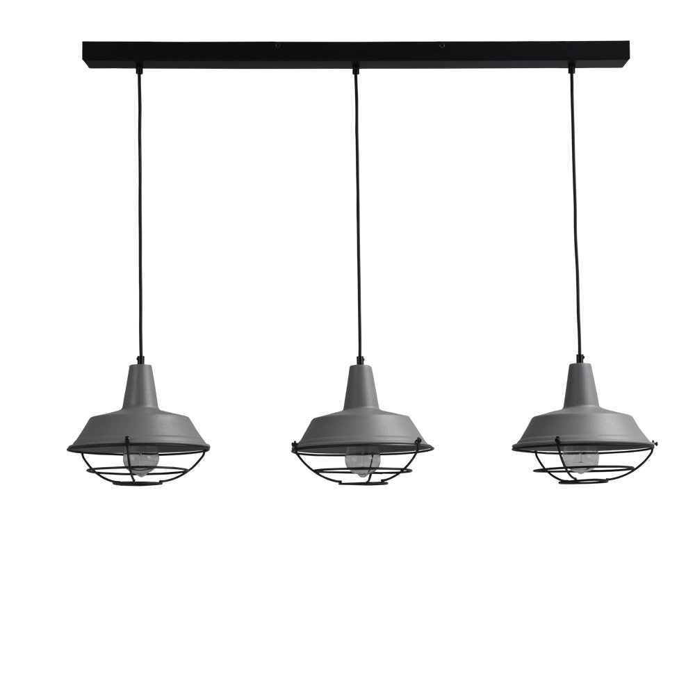 Masterlight Stoere retro eetkamer lamp Industria 3x25 Masterlight 2545-00-C-100-3