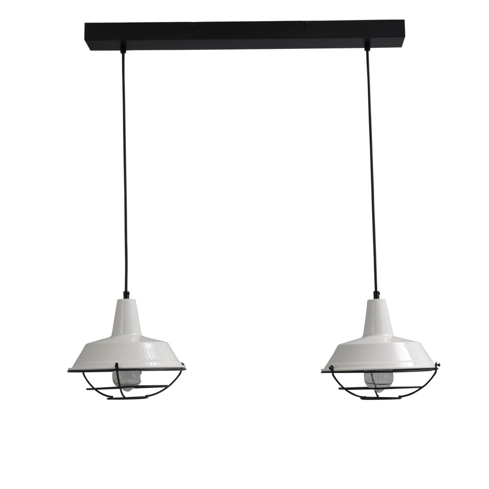 Masterlight Witte vintage eettafellamp Industria 2x25 Masterlight 2545-06-C-70-2
