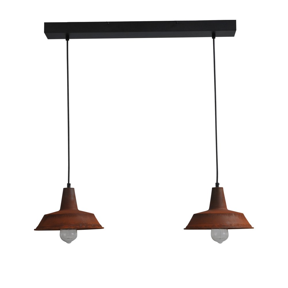 Masterlight Stoere roestige hanglamp Industria 2x25 Masterlight 2545-25-70-2