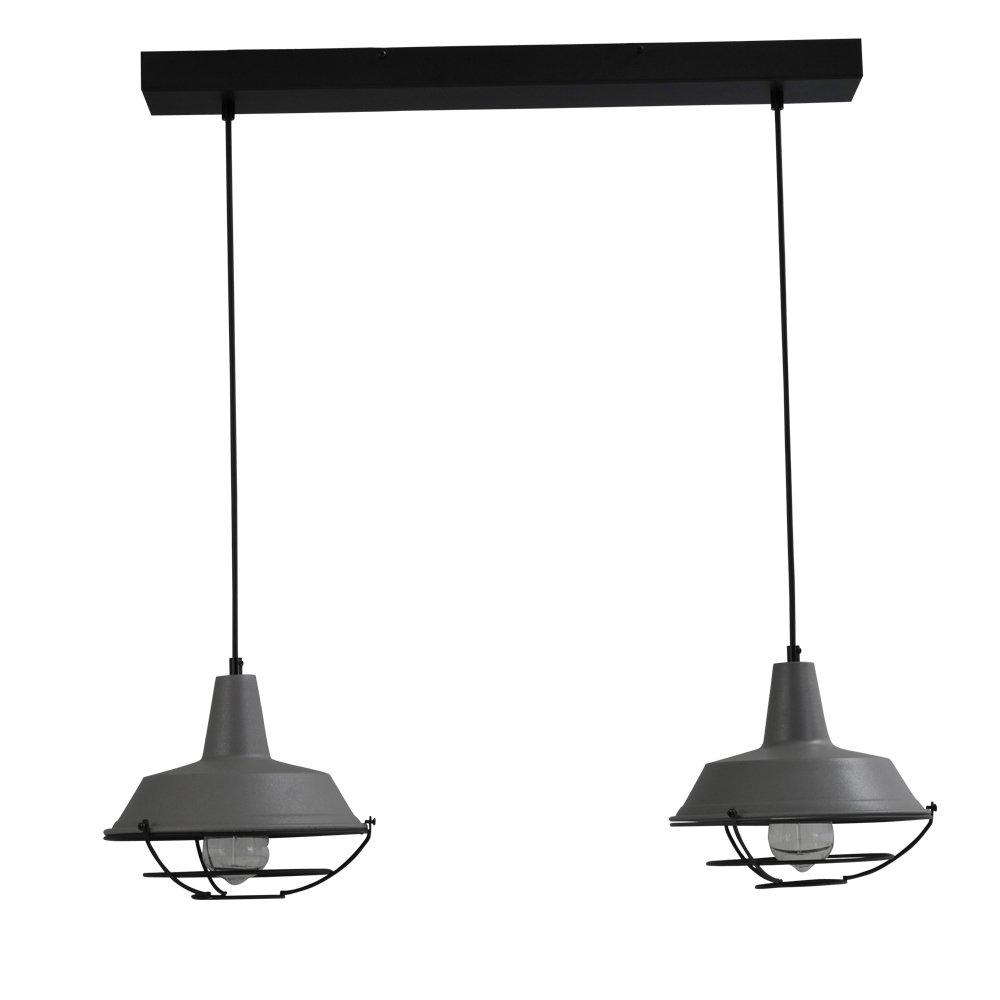 Masterlight Stoere roestige eettafellamp Industria 2x25 Masterlight 2545-25-C-70-2