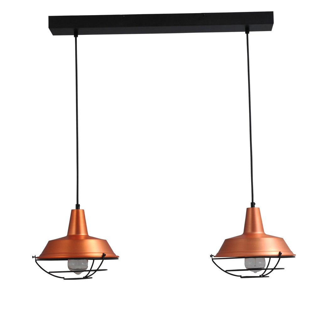 Masterlight Roodkoperen hanglamp Industria 2x25 Masterlight 2545-55-C-70-2